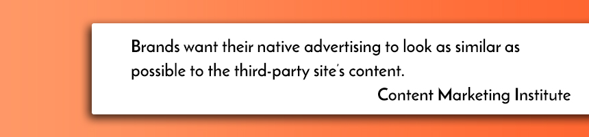 native advertising quotes by CMI