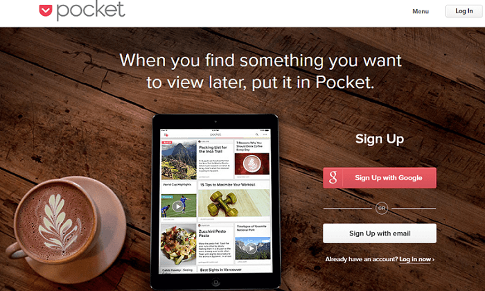 pocket content curation tool