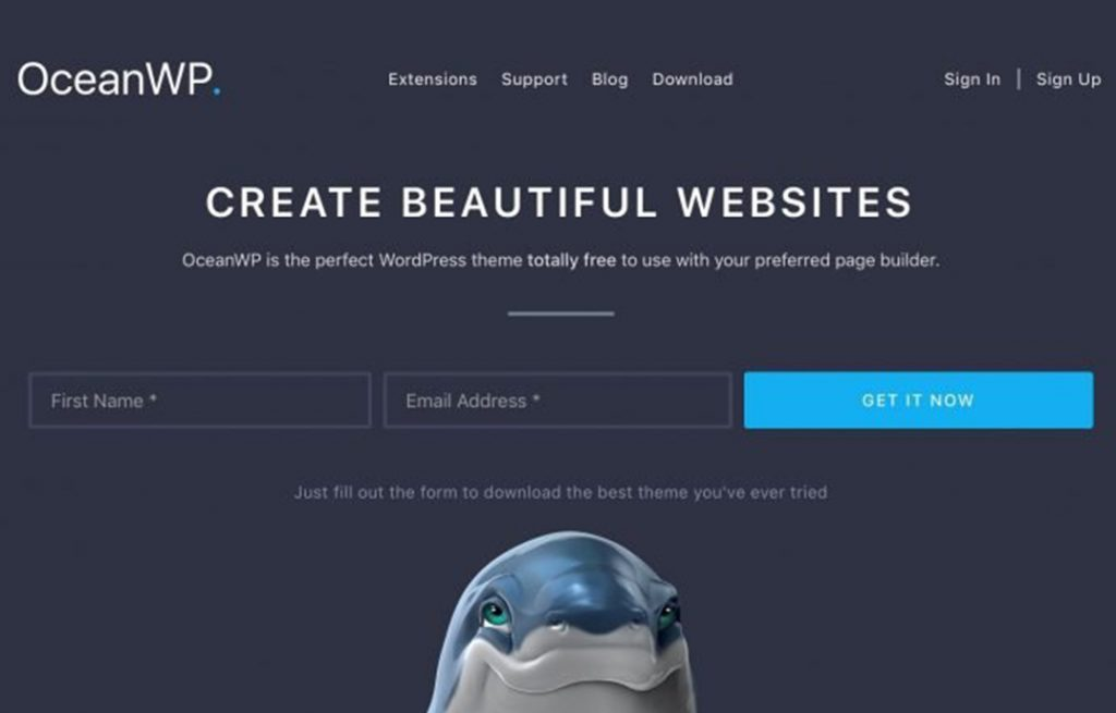 Ocean WP WordPress theme