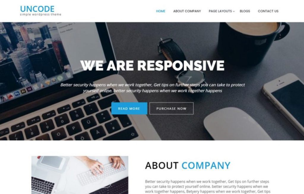 Uncode Lite  WordPress theme